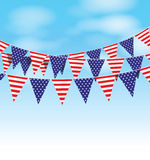 Usa bunting set Stock Photography