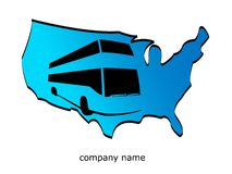 Usa and bus travel Royalty Free Stock Photos