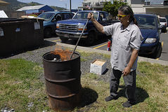 USA_BUSINESS AND DAILY LIFE. KAMIAH/IDAHO /USA- Daily  life and business in Kamiah small western sytle build town  and nez perce tribe insitution center in Nez Stock Images