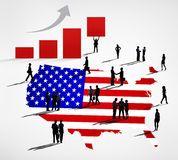 USA Business Rising Royalty Free Stock Photography