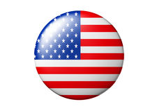 Usa button Stock Photo