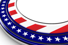 USA button royalty free illustration