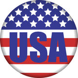 USA button Stock Photos