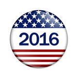 USA 2016. Button , For events in 2016 for the USA with stars and stripes stock illustration