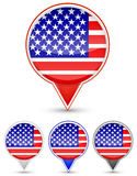 Usa buttons Stock Photography