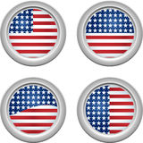 USA Buttons Stock Images