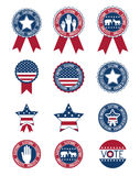 Usa Buttons And Seal Stamps Of Vote Concept Royalty Free Stock Photography