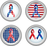 USA Buttons Ribbon Royalty Free Stock Photography