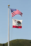 USA and California flag Stock Image