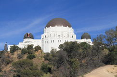 USA, California, Los Angeles:  Griffith Observatory with Open Planetarium Dome Royalty Free Stock Photo