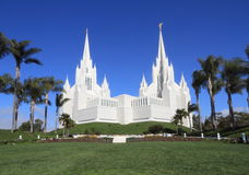 USA,California, San Diego: Mormon Temple. This temple of The Church of Jesus Christ of Latter-day Saints (LDS) or Mormons - dedicated in 1993 - is located near royalty free stock photos