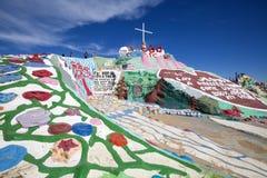 USA - California - Slab City. Outside the salvation mountain royalty free stock photos