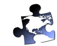 USA and Canada jigsaw piece Stock Photography