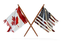 USA and Canada partnership concept Stock Photos
