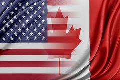 USA and Canada. Relations between two countries. USA and Canada royalty free illustration