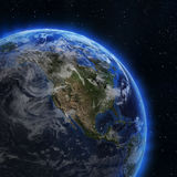 USA and Canada from space Stock Photos