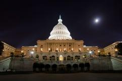 USA Capitol Budynek w blask księżyca fotografia stock