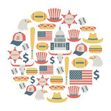 USA card Royalty Free Stock Photography