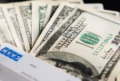 USA cash. Close up of USA cash Banknotes Royalty Free Stock Photography