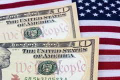 USA cash American flag patriotism wealth Stock Photo