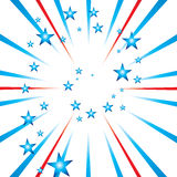 Usa celebrate spiral stars Stock Images