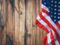 USA are celebrate 4th of July. Patriotic holiday. USA are celebrate 4th of July. Close up of American flag Royalty Free Stock Photography