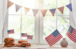 USA are celebrate 4th of July Stock Images