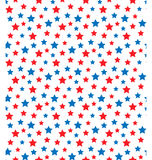 USA celebration seamless with stars in national colors for indep. Endence day  on white background Royalty Free Stock Image