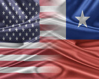 USA and Chile. Stock Photos