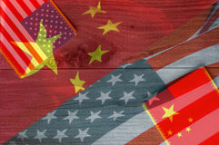 USA and China flag Royalty Free Stock Photography
