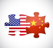 Usa and china illustration design Stock Photo