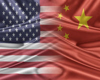 USA and China. Royalty Free Stock Images