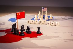 USA and China trade war concept. Tade war caused by the 2018 US tariffs on steel and aluminium Royalty Free Stock Photography