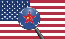 USA Chiny powiązania ilustracji