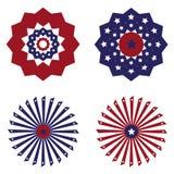 USA chorągiewki chorągwiana round dekoracja na białym tle ilustracji