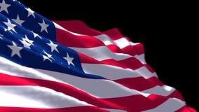 USA Chorągwiany falowanie ilustracja wektor