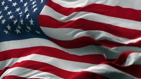 USA Chorągwiany dmuchanie na wiatrze Obraz Stock