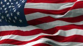 USA Chorągwiany dmuchanie na wiatrze Zdjęcia Stock