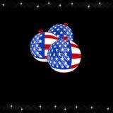 USA Christmas. Christmas tree baubles with a USA theme Royalty Free Stock Photography