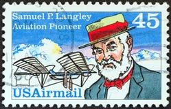 Free USA - CIRCA 1988: A Stamp Printed In USA Shows Aviation Pioneer Samuel P. Langley And His Aerodrome No. 5 Machine, Circa 1988. Royalty Free Stock Photo - 155535305