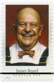 USA - CIRCA 2014: Shows James Andrew Beard 1903-1985, amerikanischer Chef, Autor und Fernseh-Persönlichkeit, Reihe Promi-Chefs Lizenzfreie Stockbilder