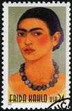 USA - 2001: shows Frida Kahlo de Rivera 1907-1954, Mexican painter, Magdalena Carmen Frida Kahlo y Calderon. USA - CIRCA 2001: A stamp printed in USA shows Frida Royalty Free Stock Image