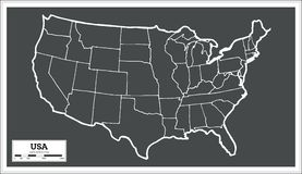 USA City Map in Retro Style. Outline Map. Stock Photography