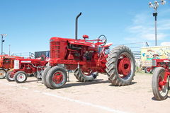 USA: Classic Tractor: 1950 Farmall M. This Farmall was on exhibition in Cottonwood during the 31st Annual Engine Show of the Arziona Flywheelers, March 20-21 royalty free stock photos