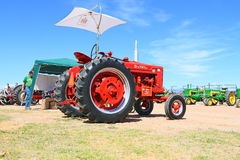 USA: Classic Tractor - IH Farmall 1951 M with Sun Sail Stock Photos