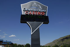 USA_CLEARWATER RIVER CASINO Royalty Free Stock Image