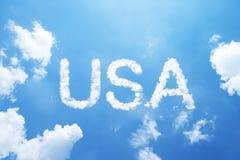 USA cloud word Stock Photography