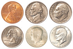 USA coins - Tail side Stock Image