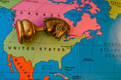 USA collapse concept chess Royalty Free Stock Photos