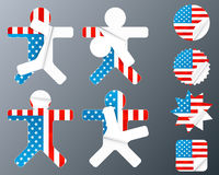 USA collection of peeling stickers Royalty Free Stock Photos